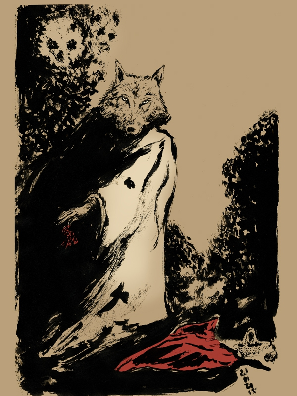 petit chaperon rouge, little red hood, illustration