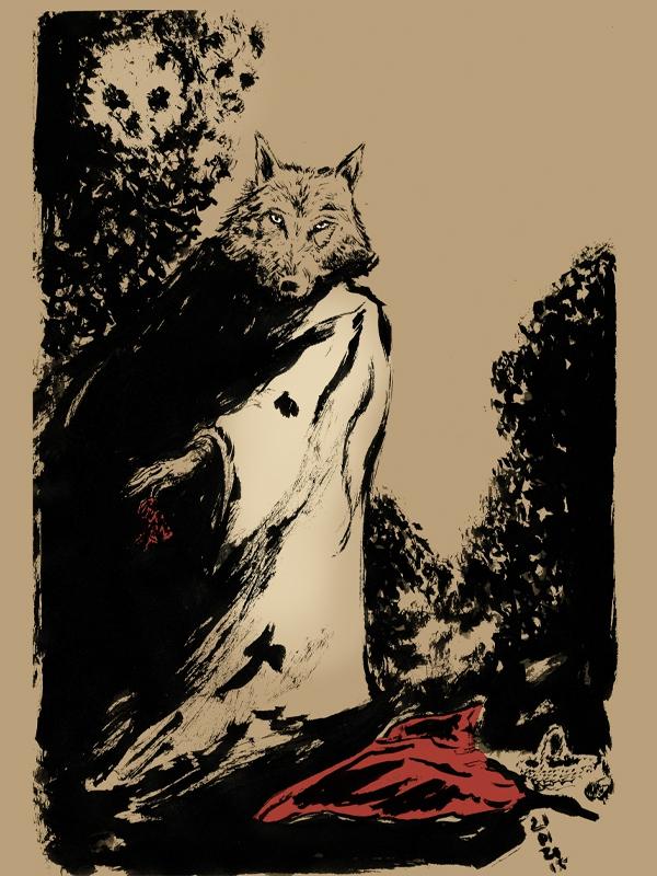 petit chaperon rouge, little red hood, illustration